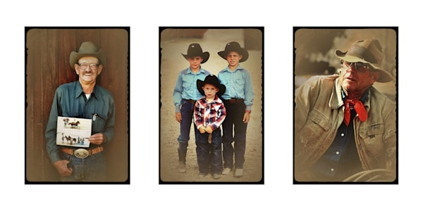 Routt County Cowboys Triptych Art | photographicsart