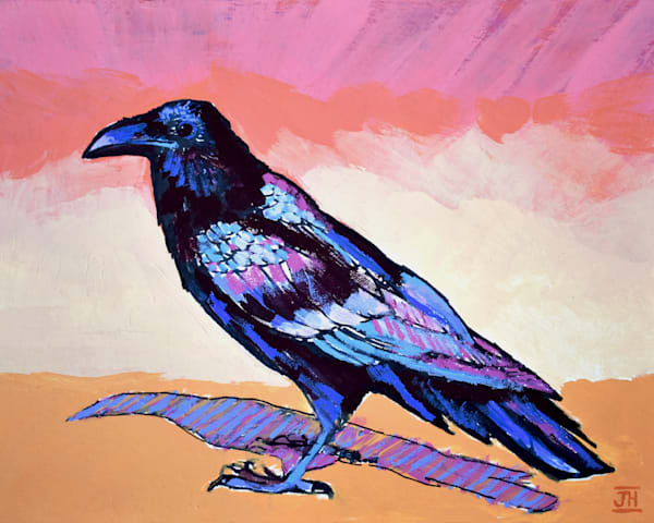 Raven Study, art by Jenny Hahn