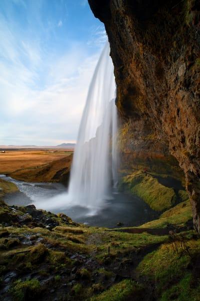 Behind Seljalandsfoss Photography Art | templeimagery