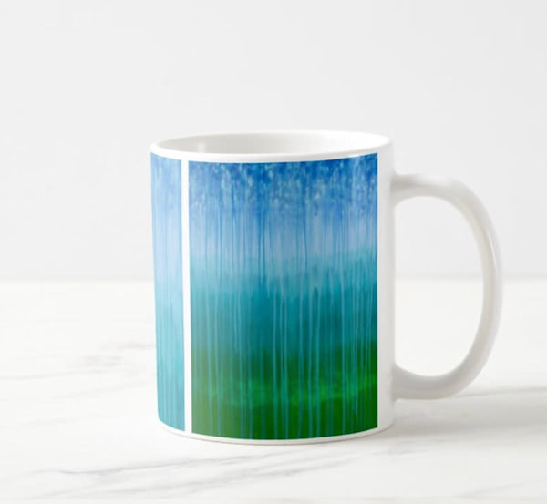 Mug 11oz Forested Mountain Rain by Rachel Brask