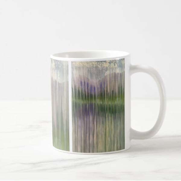 Mug 11oz Lakeside Mountain Rain by Rachel Brask