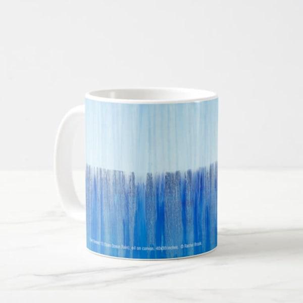 Mug 11oz Open Ocean Rain By Rachel Brask | Rachel Brask Studio, LLC
