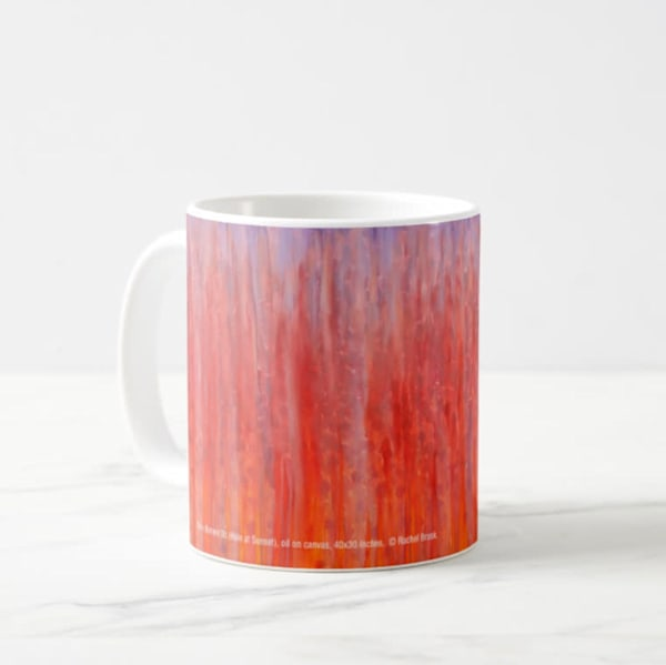 Mug 11oz Sunset Rain by Rachel Brask