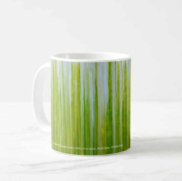 Mug 11oz Summer Greens in Rain by Rachel Brask