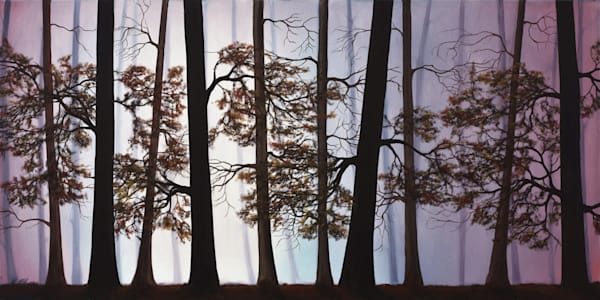 Misty Forest | Original Oil Painting Art | MMG Art Studio | Fine Art Colorado Gallery