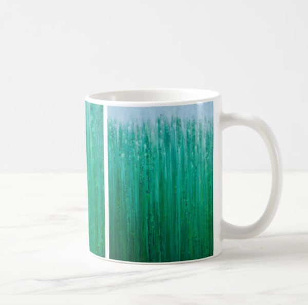 Mug 11oz Deep Forest Rain by Rachel Brask