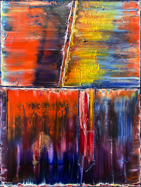 Union abstract PMS oil painting