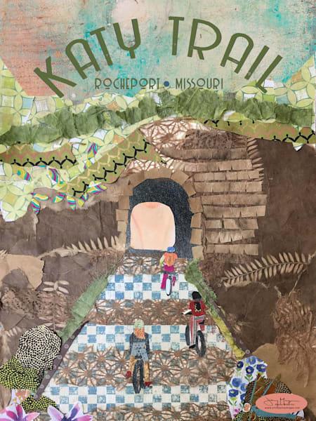 Katy Trail Rocheport Missouri - Katy Trail Biking Print | Artist Jenny McGee