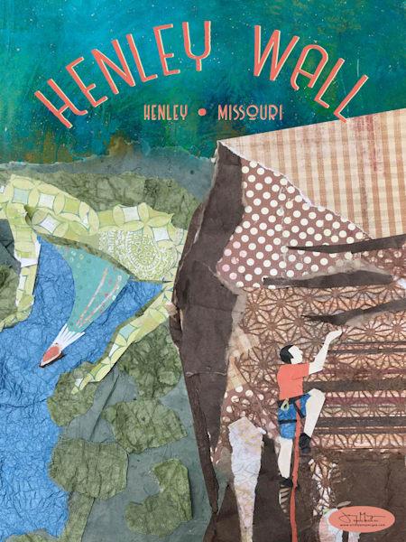 Rock Climbing in Henley Missouri - Rock Climbing Art Print | Artist Jenny McGee