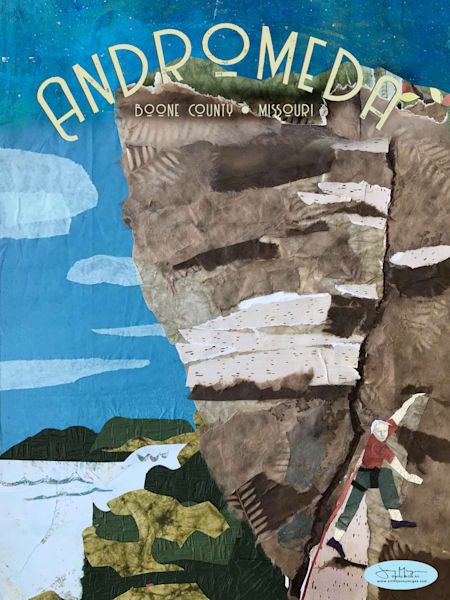 Andromeda Bluff  - Rock Climbing Art Print | Artist Jenny McGee
