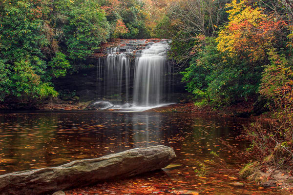 Fall At Schoolhouse Falls H Photography Art | Red Rock Photography
