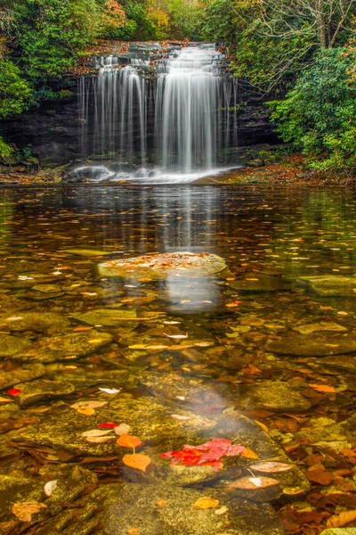 Fall At Schoolhouse Falls V Photography Art | Red Rock Photography