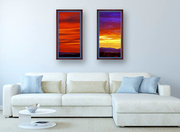 Sunsets in Red and Yellow – Art Wall