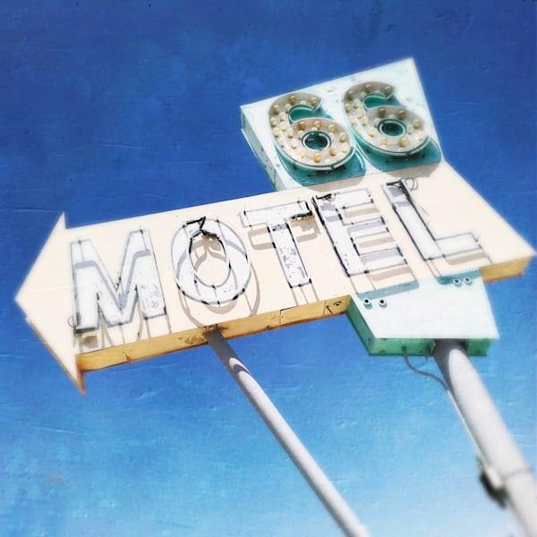 66 Motel Sign Art   photographicsart