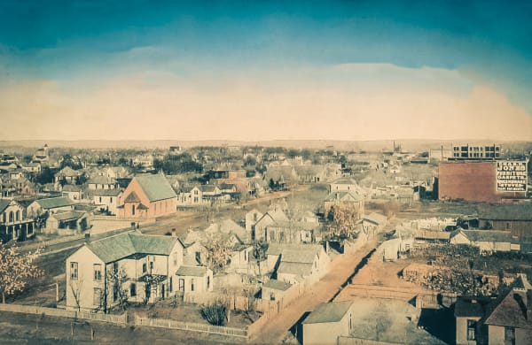Bird's Eye View Of Denison, Tex. Photography Art by Randy Sedlacek Photography