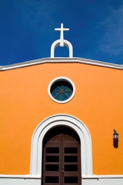 Orange San Juan Church Photography Art | Mark Stall IMAGES