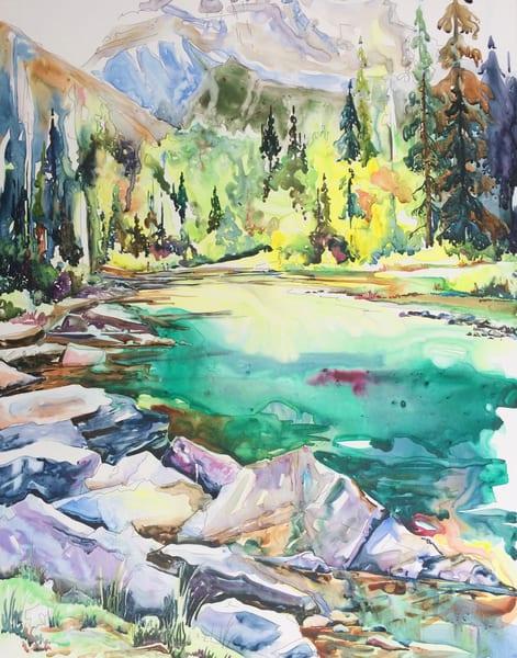 Horseshoe Lake Card | Karen Bishop Artist