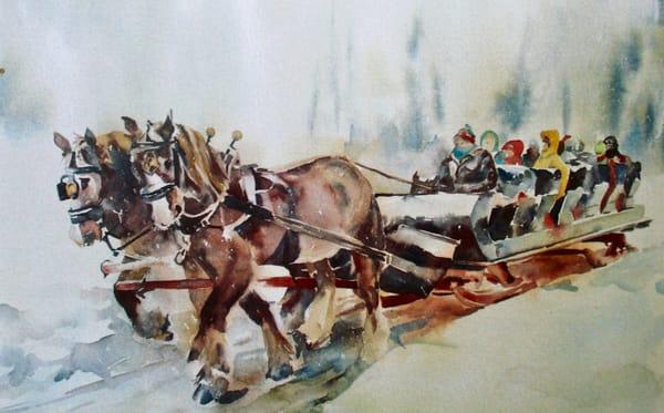 Sleigh Ride Card | Karen Bishop Artist