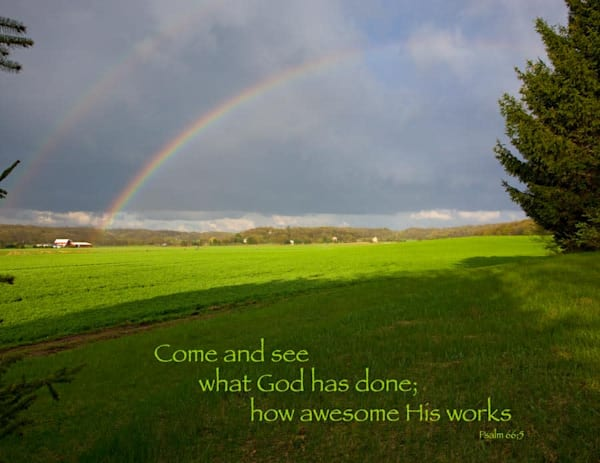 Double Rainbow after shower - shop fine-art notecards | Closer Views
