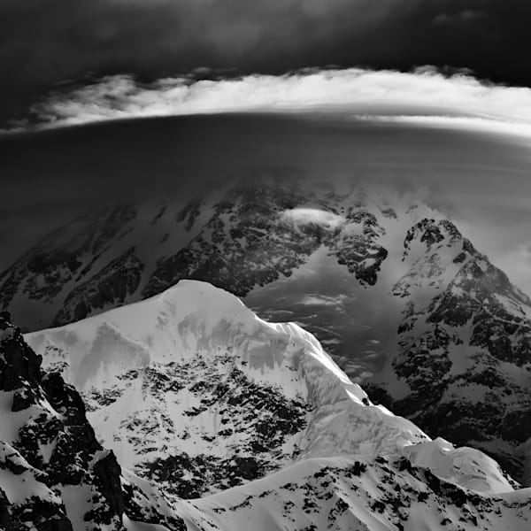 Denali clouds and storm