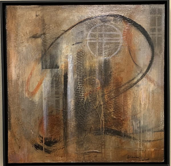 Earth tones, texture, stencils, writing, drips, splashes, abstract, art, fine art