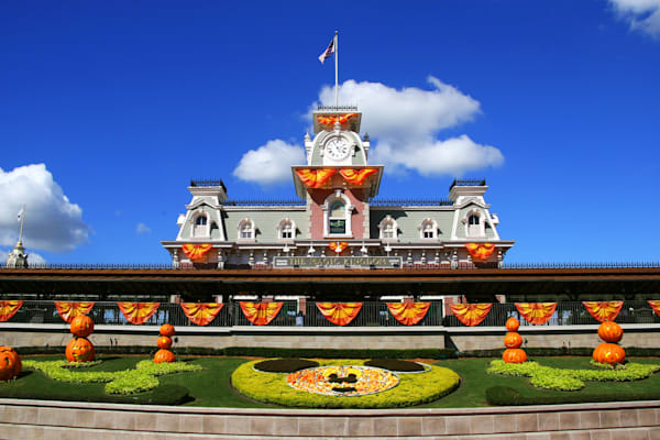 Halloween Train Station - Disney Halloween Photographs