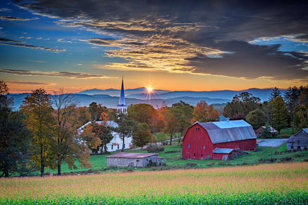 Autumn Sunrise in Peacham, Vermont | Shop Photography by Rick Berk