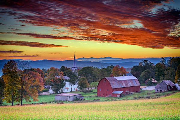 Dawn in Peacham, Vermont | Shop Photography by Rick Berk