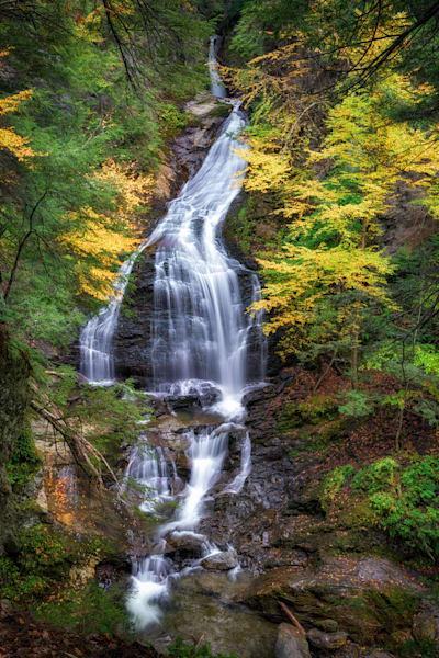Autumn at Moss Glen Falls, Stowe, Vermont | Shop Photography by Rick Berk
