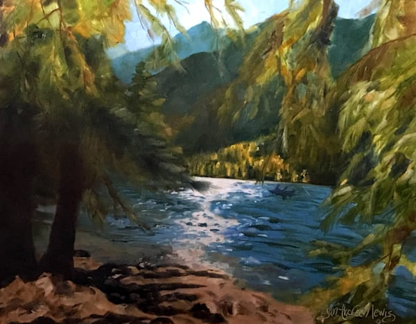 Cottonwood Lake Memories I Art | Jan Thoreen Lewis Fine Art