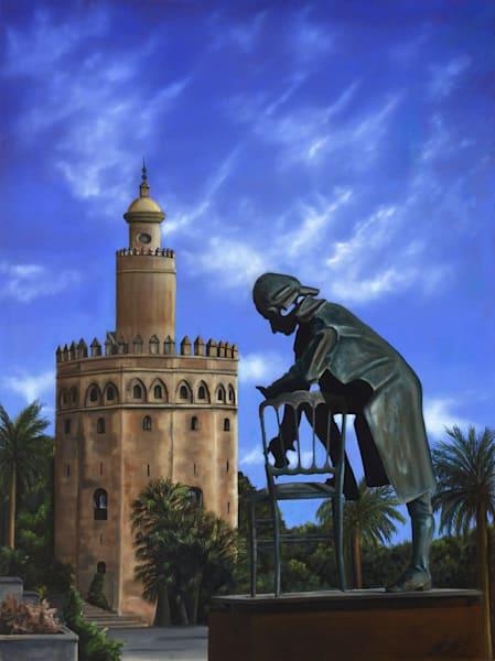 Mozart In Seville | Original Oil Painting Art | MMG Art Studio | Fine Art Colorado Gallery