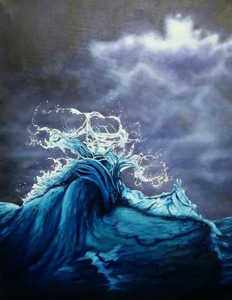 Ocean Wave | Original Oil Painting Art | MMG Art Studio | Fine Art Colorado Gallery