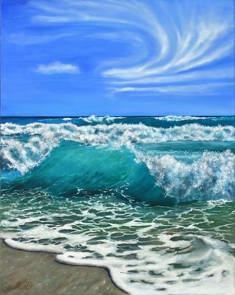 Beach Waves | Original Oil Painting Art | MMG Art Studio | Fine Art Colorado Gallery