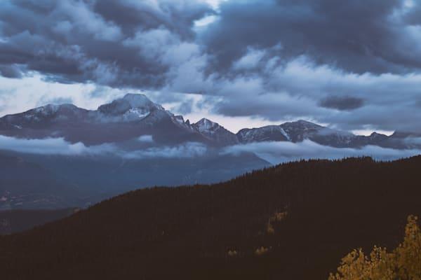 Cloudy Rocky Mountain Evening