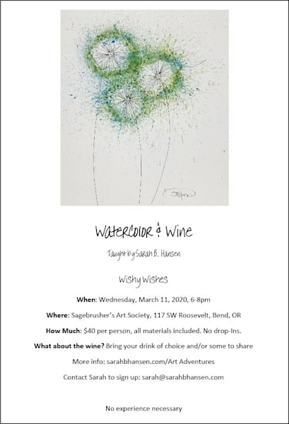 Watercolor & Wine, Wishy Wishes Paint Night