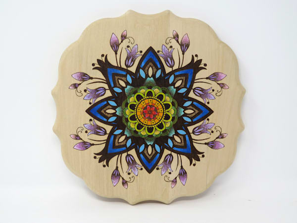 Mandala (Original Woodburning)