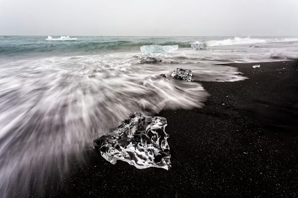Ice Fossils   Jokulsarlon  Iceland   Douglas Sandquist Photography