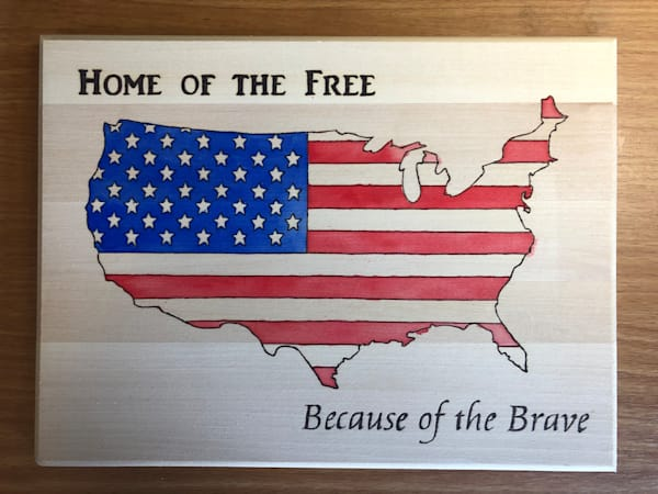 Home of the Free (Original Woodburning)