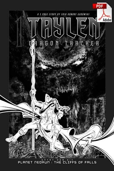 Taylen, Dragon Tracker: Issue 1 (Black & White Downloadable Pdf) | HombretheArtist
