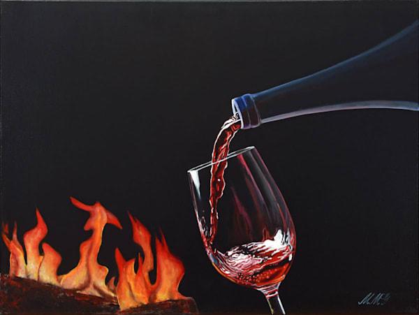 Cozy Wine | Original Oil Painting Art | MMG Art Studio | Fine Art Colorado Gallery