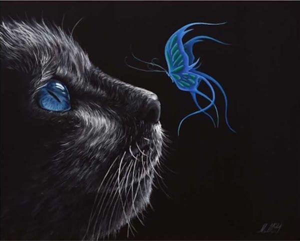 Mystical Cat | Original Oil Painting Art | MMG Art Studio | Fine Art Colorado Gallery