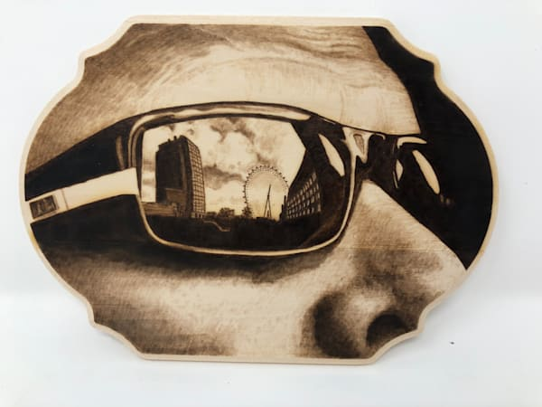 Sunglasses (Original Woodburning)