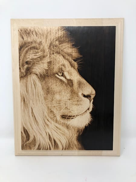 Lion (Original Woodburning)