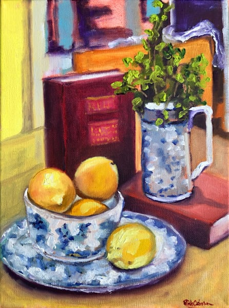 Lemons, Parsley, China, And Red Books Art | Rick Osborn Art
