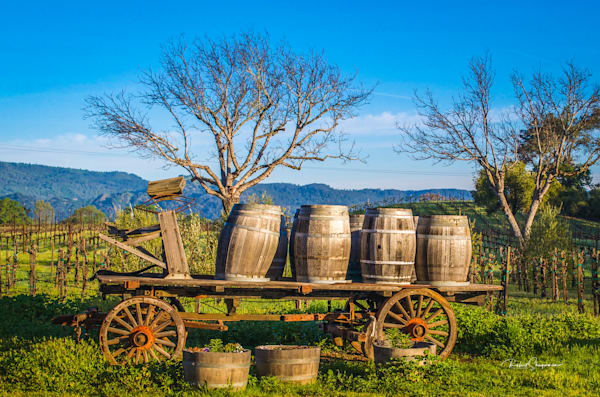 Wine Barrels on a Wagon | Shop Prints | Robert Shugarman Photography