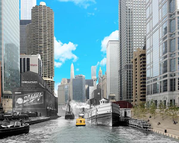 Chicago River Grain Elevators Art | Mark Hersch Photography