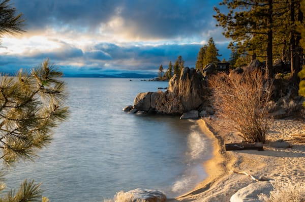 Golden East Shore Light I Lake Tahoe Landscape Photography I David N. Braun