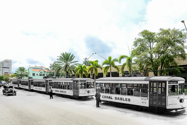 First Day Of Streetcars   Coral Gables Art | Mark Hersch Photography