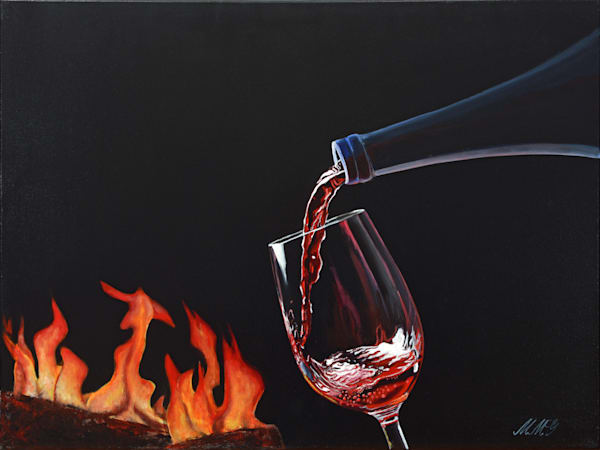 Cozy Wine Art | MMG Art Studio | Fine Art Colorado Gallery