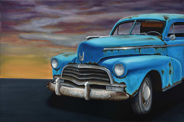 Classic Unrestored Car Oil Art | MMG Art Studio | Fine Art Colorado Gallery
